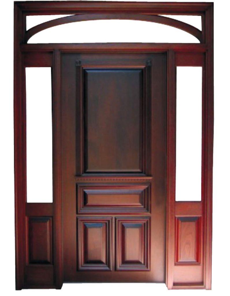 Usa de exterior din lemn stratificat cu luminator model AE5-2-L-2K