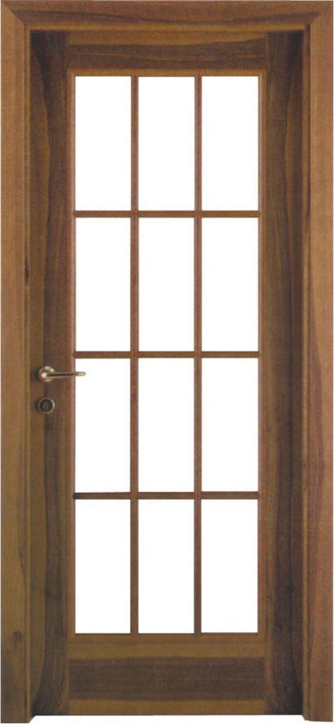 Usa de interior din lemn cu geam model A93