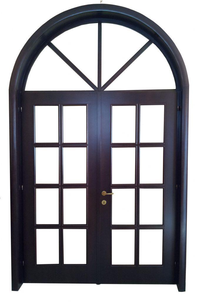 Usa de interior din lemn cu geam si luminator model ASP1-2K-I