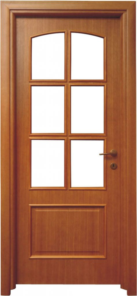 Usa de interior din lemn cu geam model ASP5